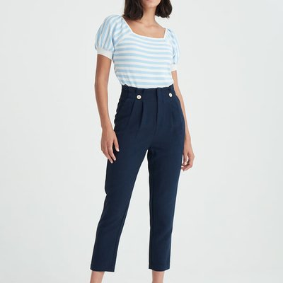 Ankle length paperbag trousers