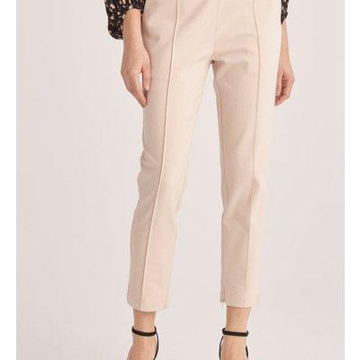 High waist slim trousers