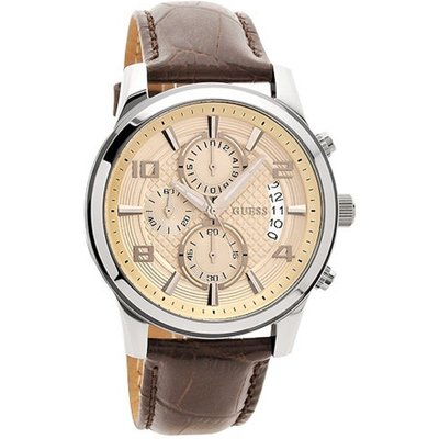 Guess Men s Exec Chronograph Watch  W0076G2  - 091661420498