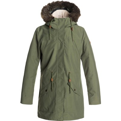 Roxy Womens Amy 3 in 1 Jacket - Four Leaf Clover