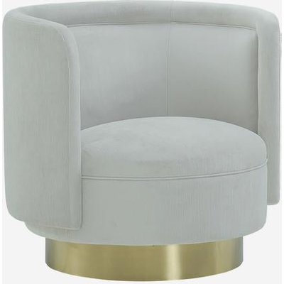 Andrew Martin Swivel Chair Marlow Pale Grey Armchair