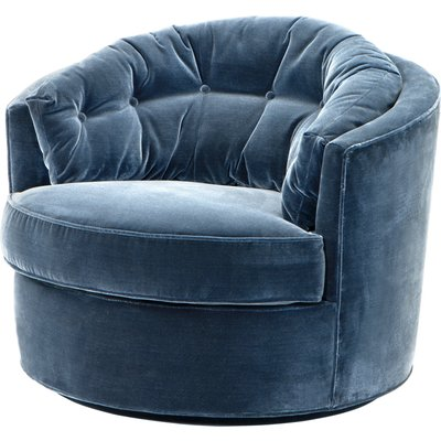 Eichholtz Recla Chair in Cameron Faded Blue