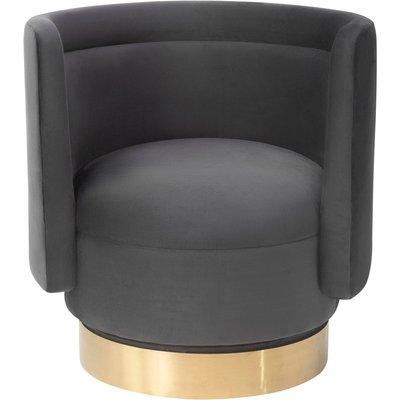 Liang & Eimil Studio 21 Chair Jet Grey Velvet