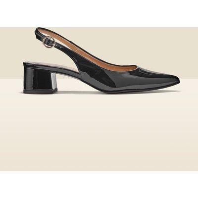Glory Black Patent Leather Slingback Point Shoe