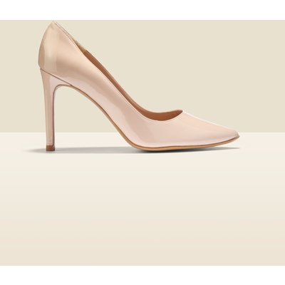 Cleo Nude Patent Leather Court Shoe