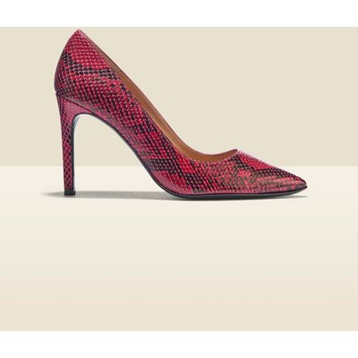 Cleo Berry Snake Leather Court Shoe