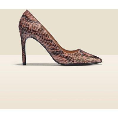 Cleo Snake Leather Court Shoe