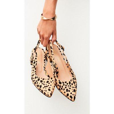 Glory Leopard Slingback Point Shoe