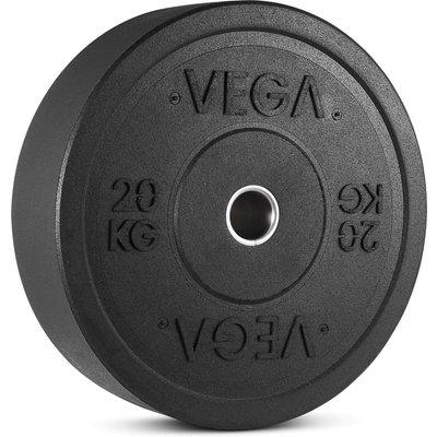 Vega Rubber Crumb Bumper Olympic Weight Plate - 1 x 20kg