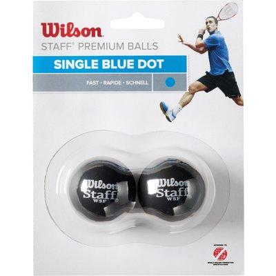 Wilson Staff Blue Dot Squash Balls   Pack of 2 - 0887768224882
