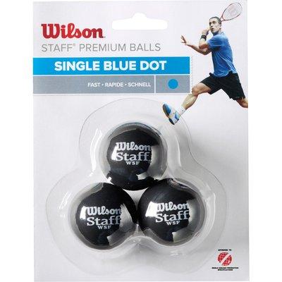 Wilson Staff Blue Dot Squash Balls   Pack of 3 - 0887768224929
