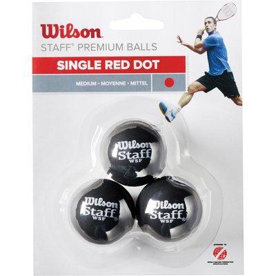Wilson Staff Red Dot Squash Balls   Pack of 3 - 0887768224943