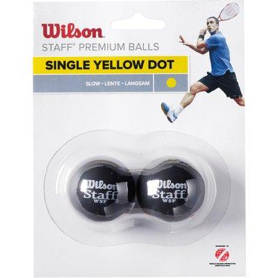 Wilson Staff Yellow Dot Squash Balls   Pack of 2 - 0887768224912