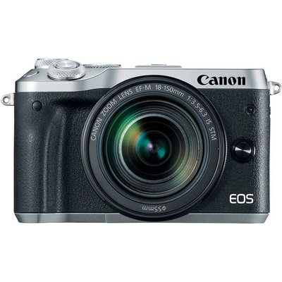Canon EOS M6 Mirrorless Digital Camera with EF-M 18-150mm camera Kit - Silver