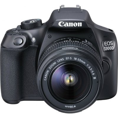 Canon EOS 1300D Kit with 18-55 III and EF 75-300mm f/4-5.6 III Lens Digital SLR Cameras - Black