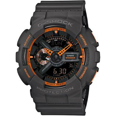Casio G-SHOCK Standard Analog-Digital Watch GA-110TS-1A4 - Grey