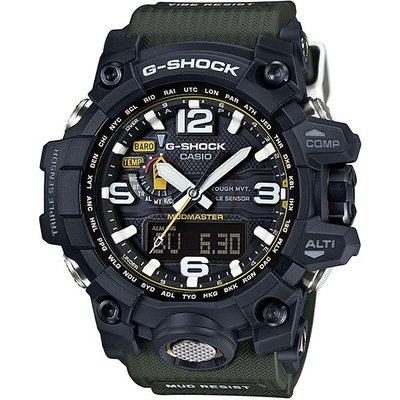 Casio G-SHOCK MASTER OF G MUDMASTER TOUGH SOLAR Watch GWG-1000-1A3 - Black and Green