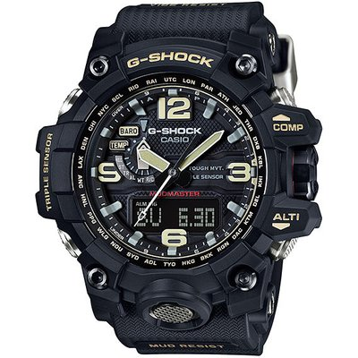 Casio G-SHOCK MASTER OF G MUDMASTER TOUGH SOLAR Watch GWG-1000-1A - Black