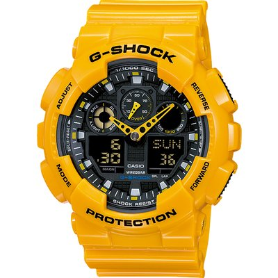 Casio G-SHOCK Standard Analog-Digital Watch GA-100A-9A - Yellow