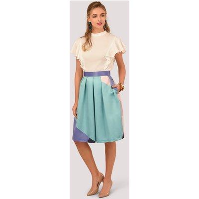 Multi Pleated Midi Skirt