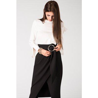 Closet Circle Ring Draped Pencil Skirt