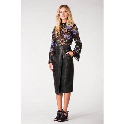 Black Closet Wrap Pencil Skirt