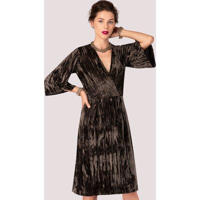 Closet London Olive Velvet Pencil Skirt Dress