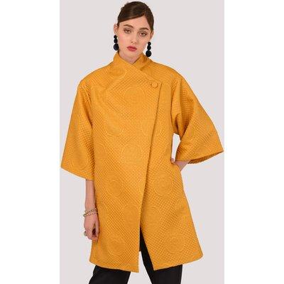 Closet Mustard Button Wrap Kimono Jacket