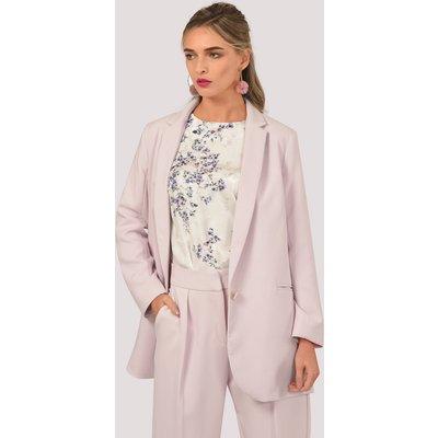 Pink Double Vent Boxy Jacket