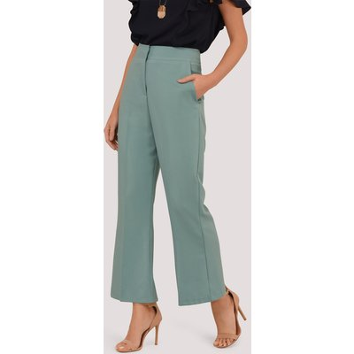 Duck Egg Bootcut Cropped Trousers