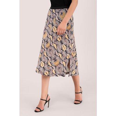 Beige Snakeskin Print Skirt