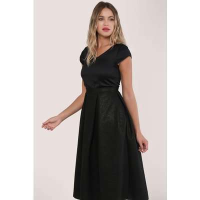 Closet GOLD Black Full Skirt V-Neck Evening Dress