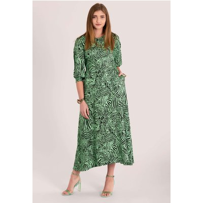 Closet London Green Split Sleeve A-Line Midi Dress