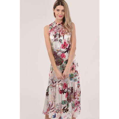 Pink Sleeveless V-Back Dress