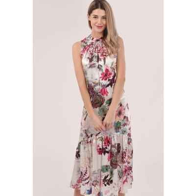 Closet London Pink Sleeveless V-Back Dress