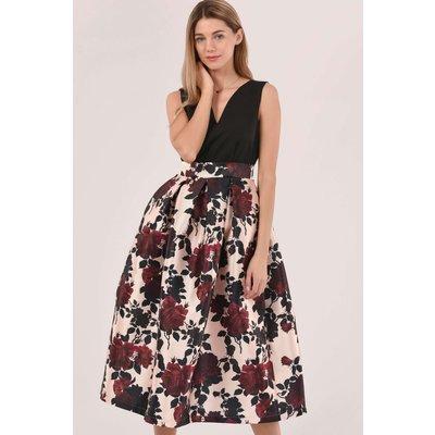 Closet London Black Closet Gold Pleated Skirt Dress