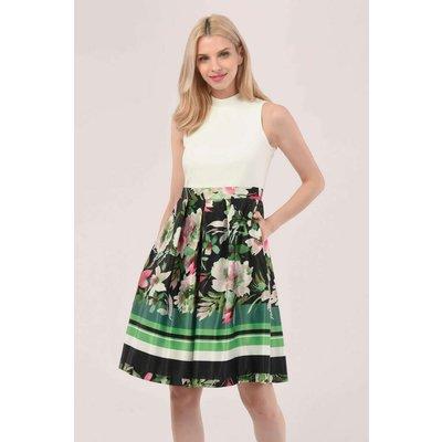 Closet London Green Closet Gold V-Neck 2-In-1 Dress