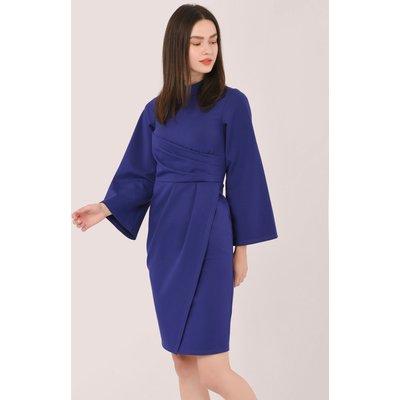 Purple Collared A-Line Dress