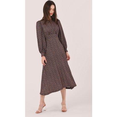 Black Puff Sleeve A-line Dress