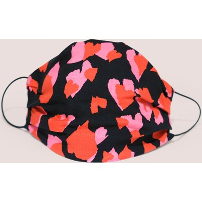 Closet London Black Red Heart Double Layer Fabric Face Mask
