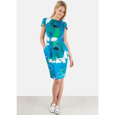 Closet Print Tulip Skirt Dress