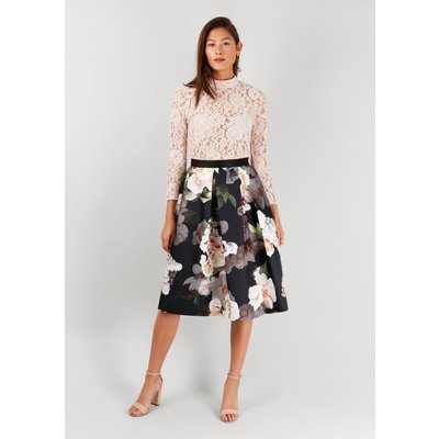 Closet Gold Midi Pleated Skirt