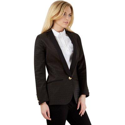 Closet London Textured Black Long Collar Jacket