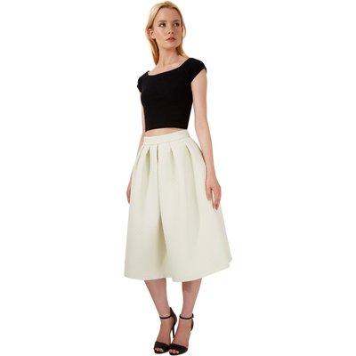 Closet Quilted Midi skirt