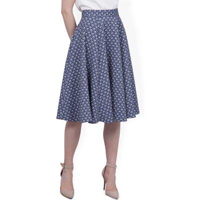 CLOSET Print jacquard skirt