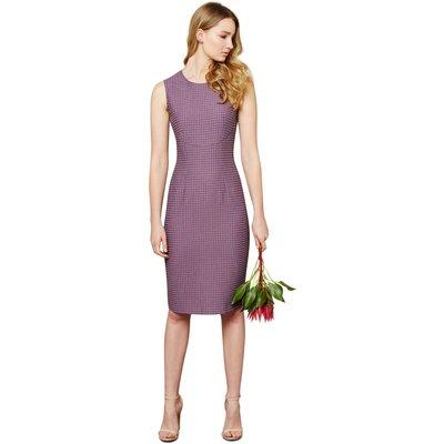 Closet Curve Seam Jacquard Dress  PURPLE