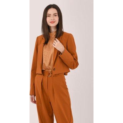 Closet London Tan Cropped Jacket