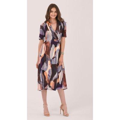 Lilac Lapel Wrap Dress