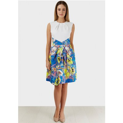 Closet London  Water Print Skirt Contrast Dress