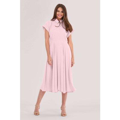 Closet London Pink Full Skirt Shirt Dress